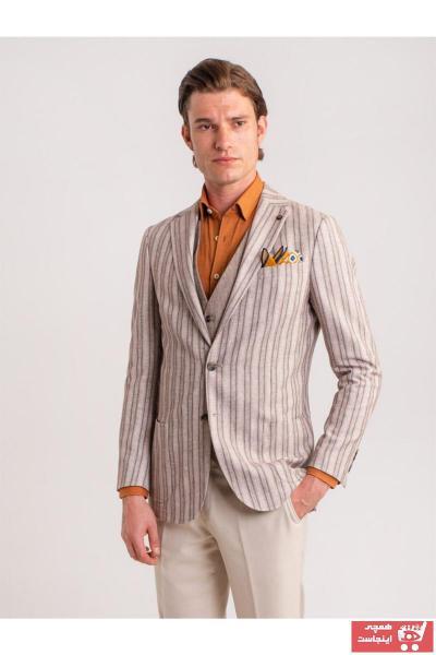 کت شلوار مردانه مارک دار برند Dufy رنگ قهوه ای کد ty46726329