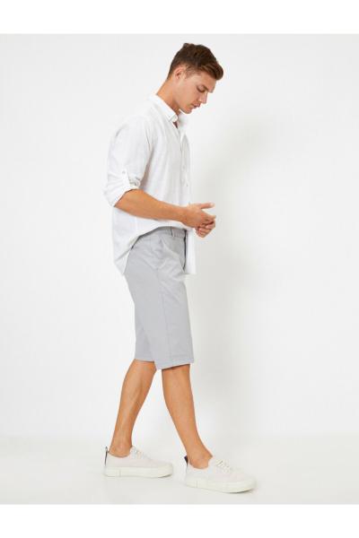 فروش پستی شلوارک مردانه ترک برند کوتون رنگ نقره ای کد ty46842962