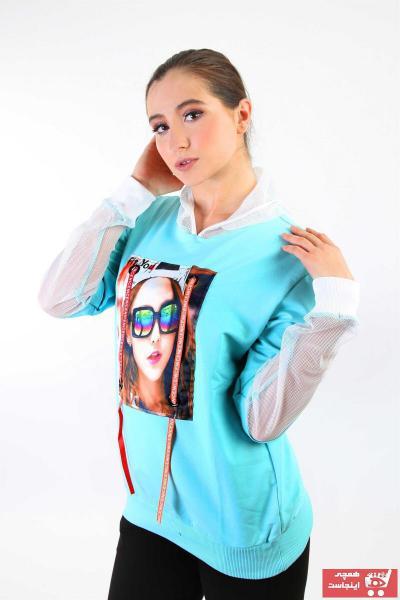 فروشگاه سویشرت زنانه سال ۹۹ برند LONGER رنگ سبز کد ty46896499