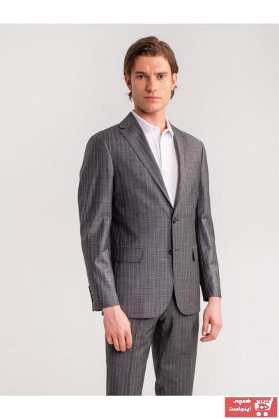 خرید کت شلوار غیرحضوری برند Dufy رنگ نقره ای کد ty47157877