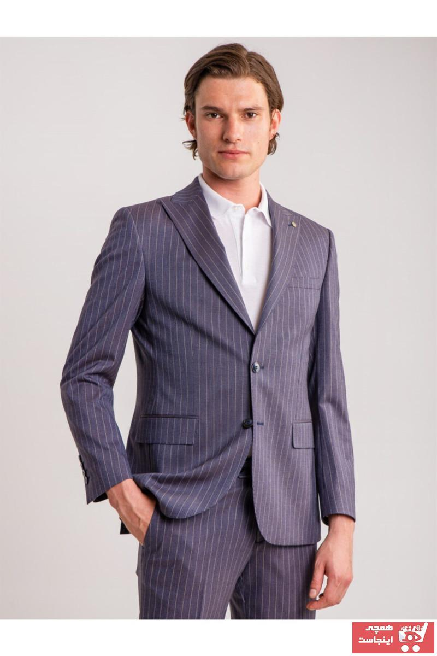 کت شلوار مردانه ترک برند Dufy رنگ بنفش کد ty47157988