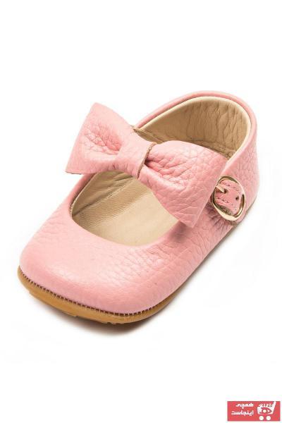 کفش تخت نوزاد دختر ترک مجلسی برند Ella Bonna رنگ صورتی ty47497639