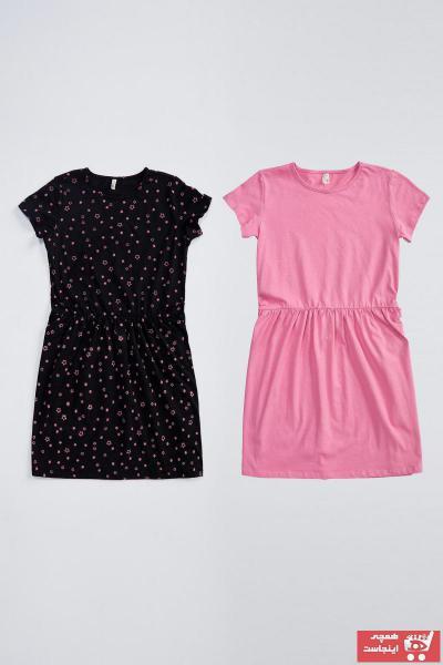 پیراهن دخترانه 2021 مارک دفاکتو رنگ صورتی ty47646180