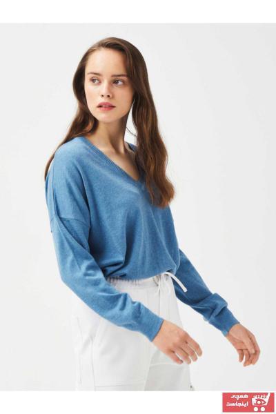 خرید پلیور نخی برند Xint رنگ آبی کد ty47937125