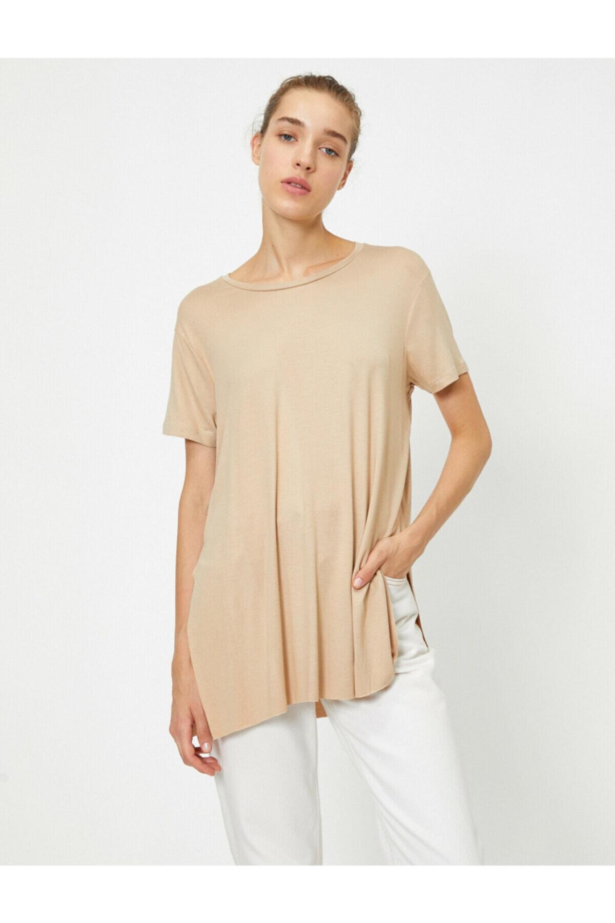 خرید اینترنتی تیشرت خاص برند کوتون رنگ قهوه ای کد ty48177913