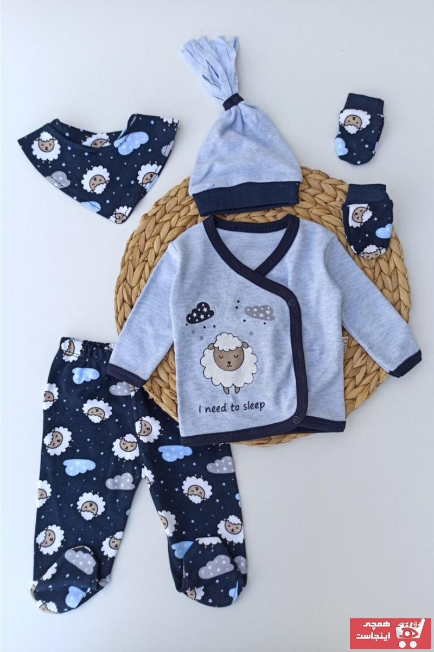 خرید اینترنتی ست لباس ست لباس نوزاد برند Necix رنگ آبی کد ty48227618