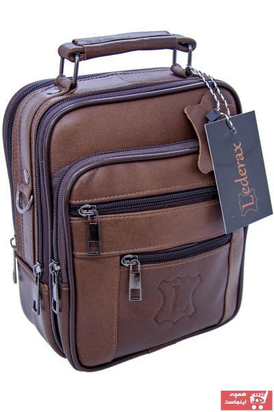 خرید کیف دستی  برند Lederax رنگ قهوه ای کد ty48594731