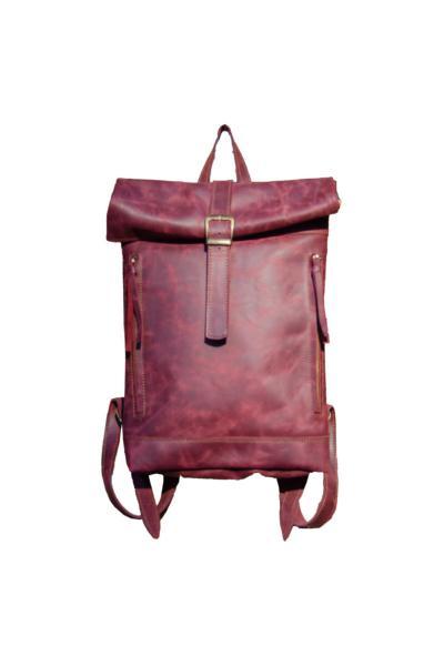 کوله پشتی مردانه ارزان قیمت برند Leathertica رنگ زرشکی ty48761052