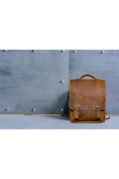 کوله پشتی مردانه برند Leathertica رنگ قهوه ای کد ty48796315