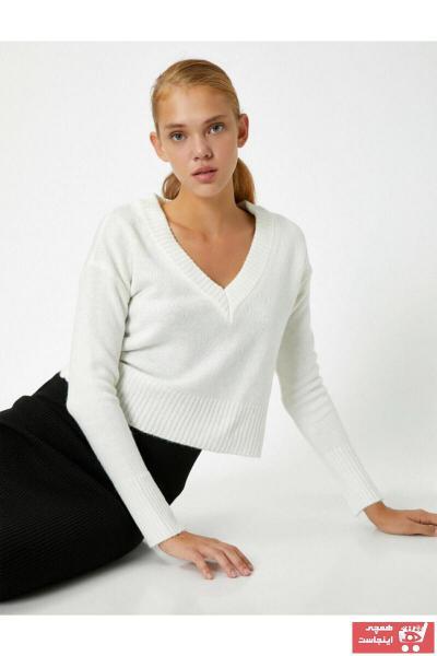 خرید اینترنتی پلیور بلند برند کوتون رنگ بژ کد ty48875576