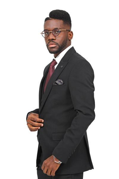 خرید انلاین کت شلوار طرح دار برند ModaPlaza رنگ مشکی کد ty49144718