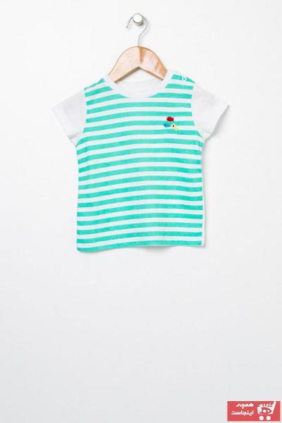 خرید نقدی تیشرت نوزاد پسرانه  برند Mammaramma رنگ سبز کد ty49720342