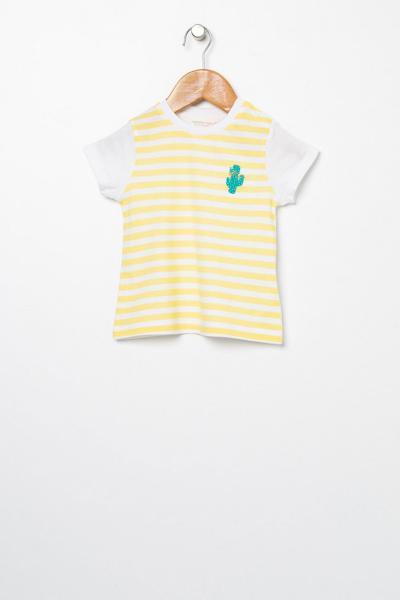 تیشرت فانتزی نوزاد دخترانه برند Mammaramma رنگ زرد ty49720436
