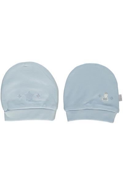 کلاه نوزاد پسر مارک دار برند Bebetto رنگ آبی کد ty49859147