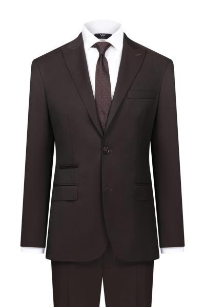 کت شلوار مردانه ساده برند W Collection رنگ زرشکی ty50342733