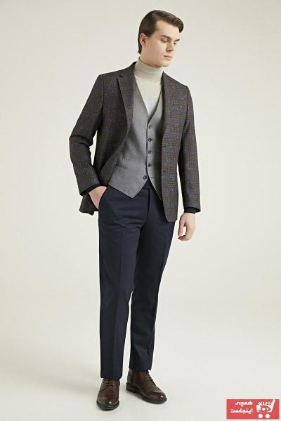 خرید مدل کت شلوار مردانه برند DS Damat رنگ قهوه ای کد ty50354191