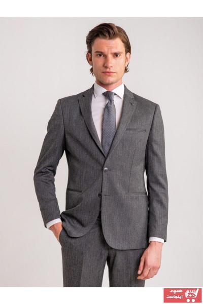 کت شلوار پاییزی مردانه برند Dufy رنگ نقره ای کد ty50759127