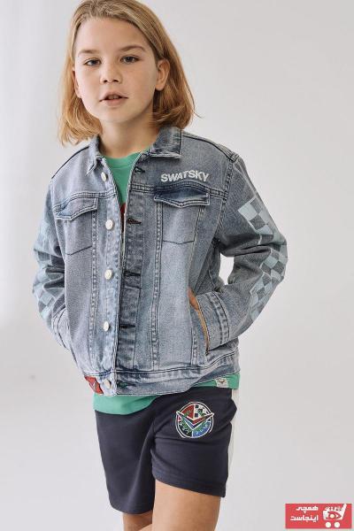 خرید انلاین ژاکت جدید بچه گانه شیک برند SWATSKY رنگ آبی کد ty50827594