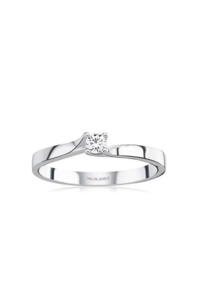 حرید اینترنتی حلقه زنانه ارزان برند Valori Jewels رنگ نقره کد ty51048364