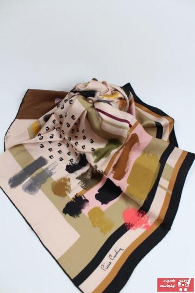 روسری زنانه ارزان مارک پیرکاردن رنگ صورتی ty51519338