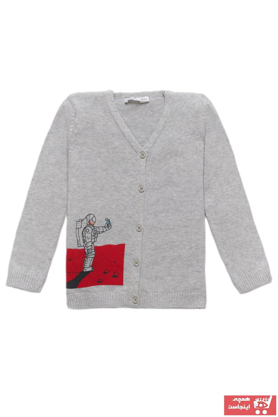 فروش سویشرت بچه گانه شیک و جدید برند KUEZA KIDS رنگ نقره ای کد ty52217003