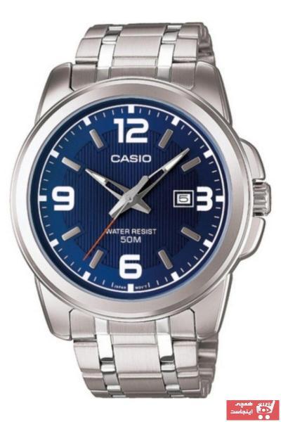 سفارش پستی ساعت مردانه برند کاسیو رنگ نقره ای کد ty52886695