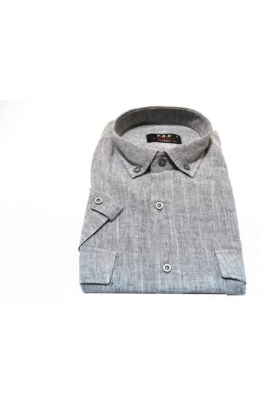 پیراهن کلاسیک مردانه مدل برند KURULAR RİZE BEZLERİ رنگ نقره ای کد ty53773415