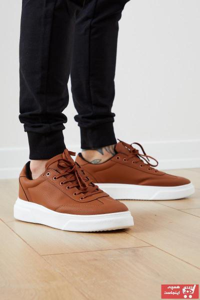 کفش اسپرت ساده برند تونی بلک اورجینال رنگ قهوه ای کد ty54833642