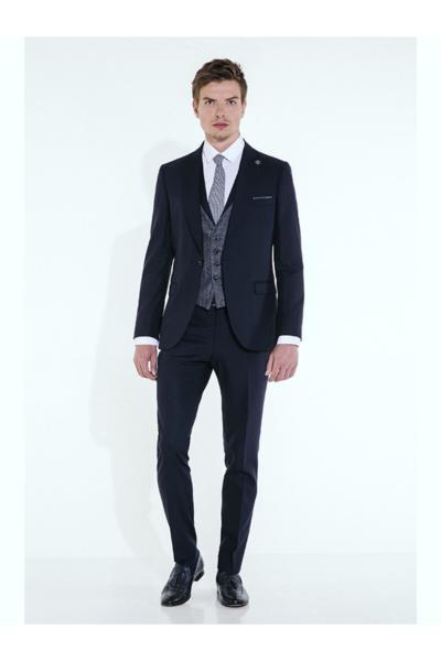 خرید پستی کت شلوار مردانه برند Suit Sartoria رنگ لاجوردی کد ty55808583