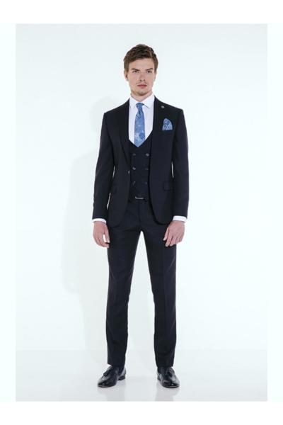 کت شلوار اورجینال مردانه برند Suit Sartoria رنگ لاجوردی کد ty55808780
