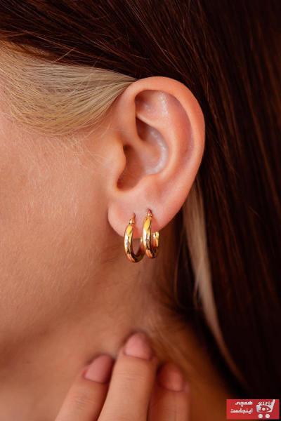 فروش گوشواره زنانه شیک و جدید برند SEMİZ KUYUMCULUK رنگ زرد ty57218152