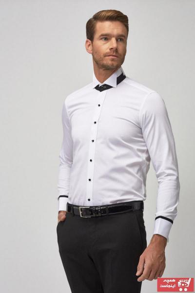 پیراهن کلاسیک مردانه نخی برند آلتین ییلدیز کد ty5783038