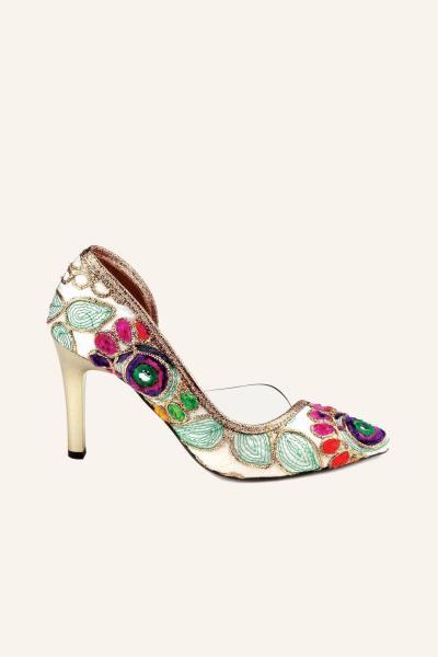 خرید اینترنتی کفش پاشنه بلند مجلسی زنانه از استانبول برند MARCATELLI رنگ بژ کد ty57994040