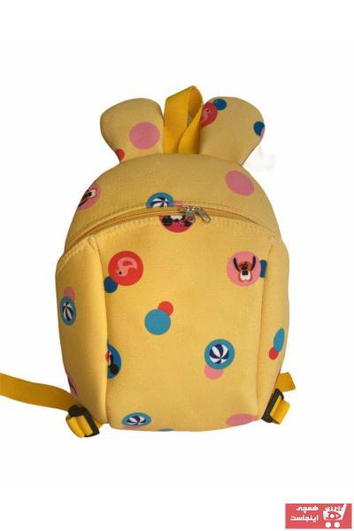 کوله پشتی بچه گانه پسرانه ارزان برند MOMSTAR رنگ زرد ty58710032