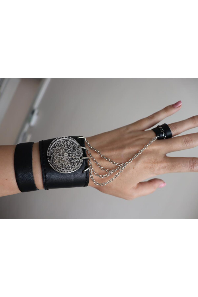سفارش دستبند انگشتی زنانه ارزان برند DENİZ TASARIM رنگ مشکی کد ty59158123