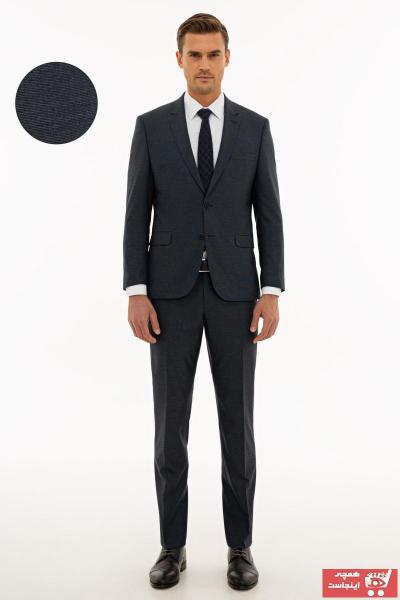 خرید انلاین کت شلوار مردانه ترکیه برند پیرکاردن رنگ لاجوردی کد ty59845934