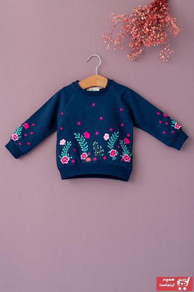 فروشگاه سویشرت نوزاد دخترانه  برند Cigit رنگ لاجوردی کد ty62275544