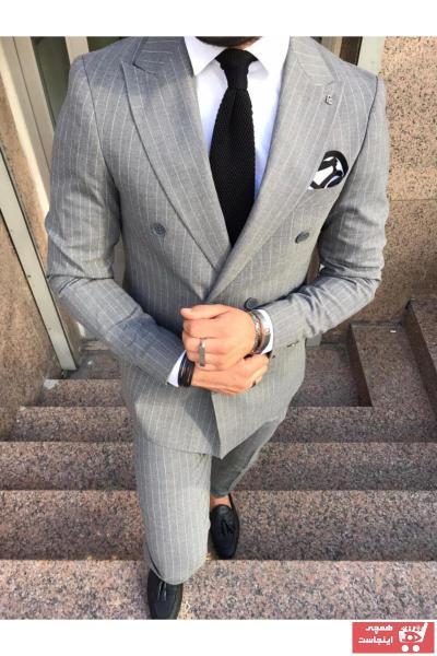 خرید انلاین کت شلوار اورجینال مردانه برند Fc Plus رنگ نقره ای کد ty63246658