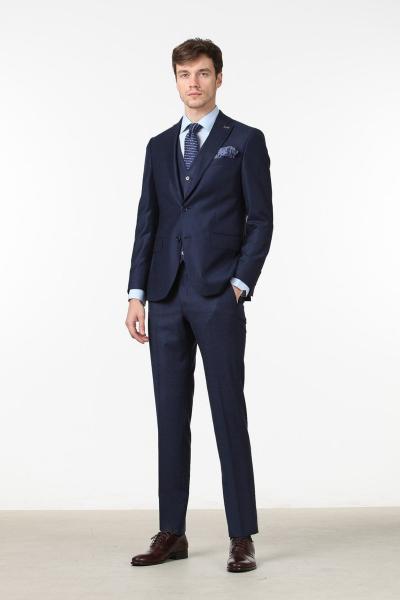 خرید اینترنتی کت شلوار مردانه برند Ramsey رنگ لاجوردی کد ty6385377