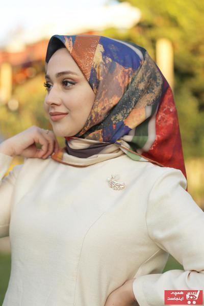 خرید نقدی روسری زنانه  برند MaPolien رنگ لاجوردی کد ty66570405