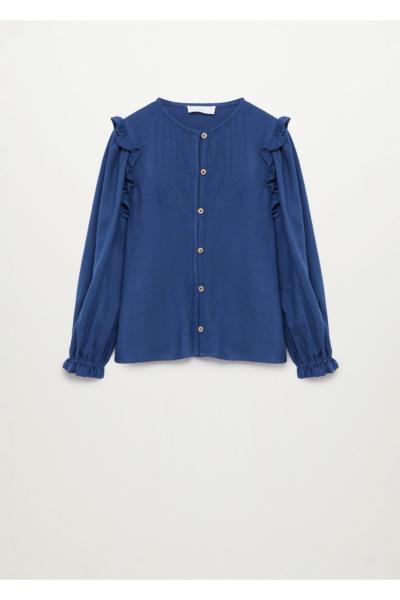 خرید انلاین شومیز نوزاد دخترانه فانتزی برند منگو رنگ آبی کد ty68311351