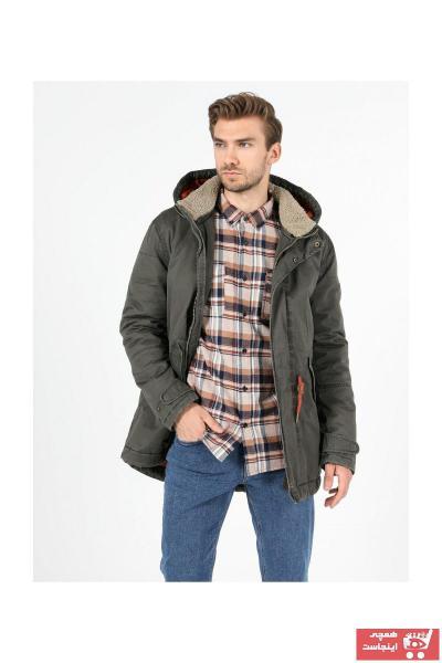 پالتو زمستانی مردانه برند Colins رنگ خاکی کد ty68335546