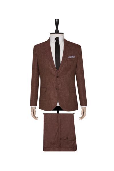 فروش کت شلوار مردانه  برند SÜVARİ رنگ قهوه ای کد ty68770621