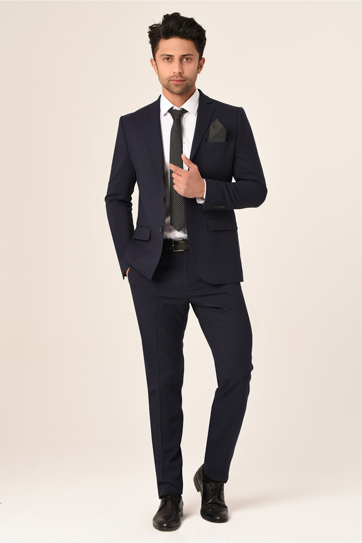 خرید اسان کت شلوار مردانه اسپرت جدید برند bysaygın رنگ لاجوردی کد ty69105035