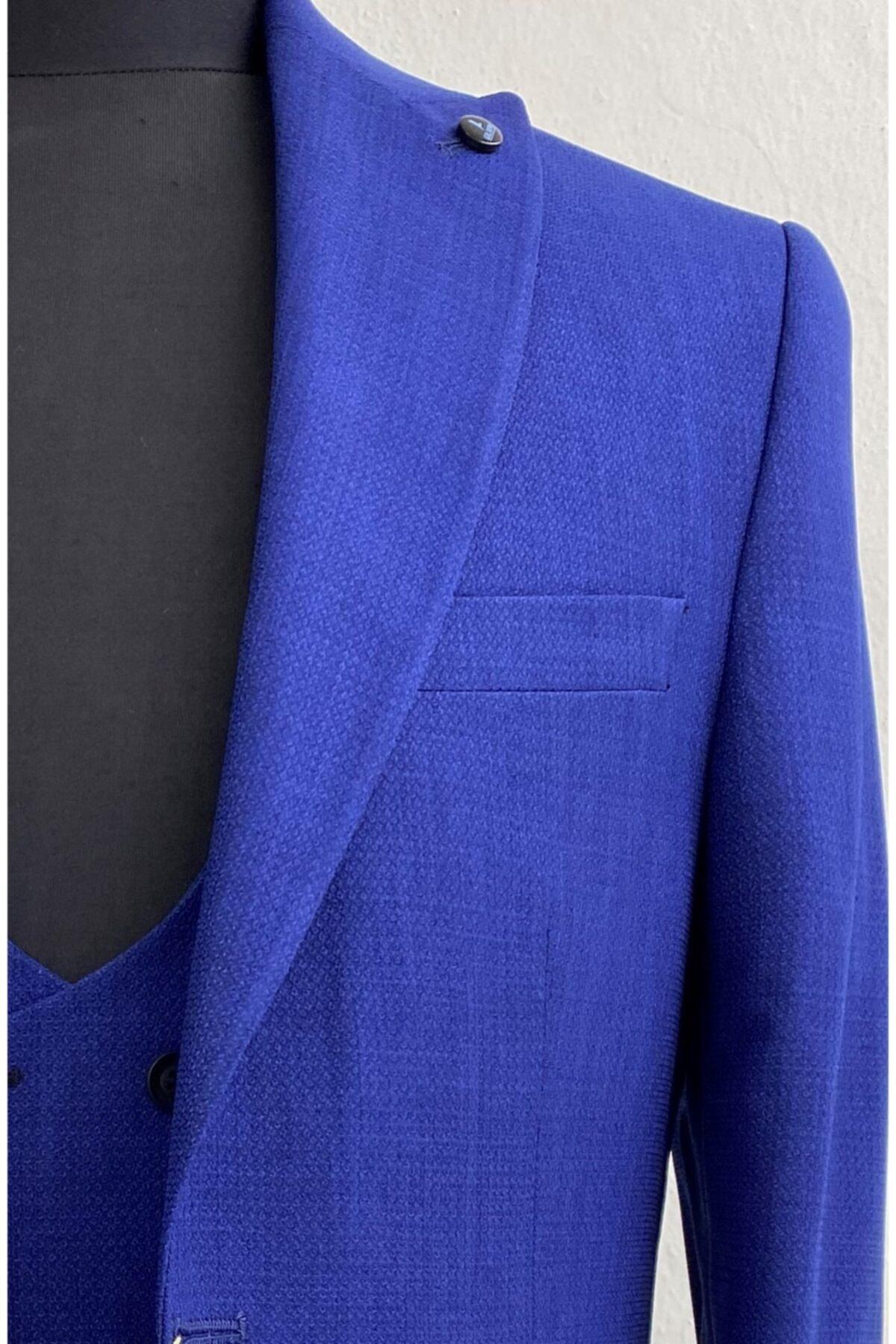 کت شلوار مردانه کوتاه برند GILAPA ÖZSARAN رنگ آبی کد ty69375941