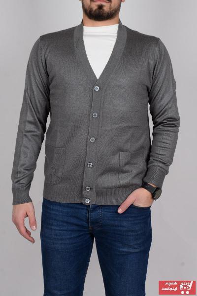 فروشگاه ژاکت بافتی مردانه اینترنتی برند TANİŞ GİYİM رنگ نقره ای کد ty70063661