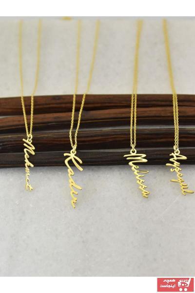 سفارش گردنبند زنانه ارزان برند ernsilver رنگ طلایی ty70523152
