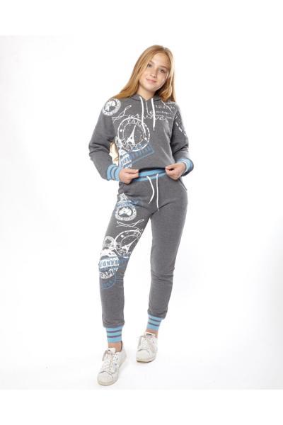 خرید سویشرت دخترانه شیک برند Marions رنگ نقره ای کد ty70662905
