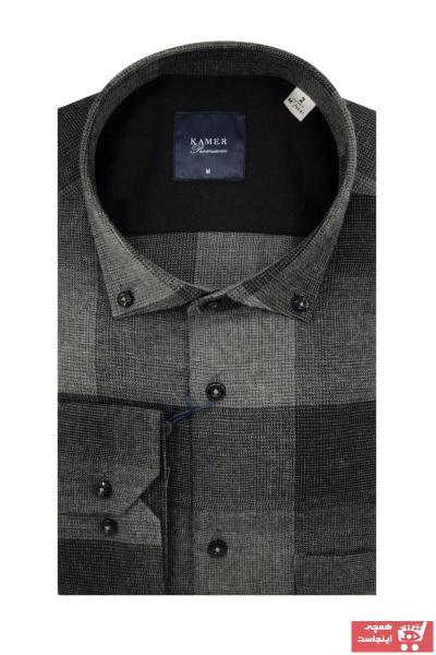 خرید اینترنتی پیراهن کلاسیک شیک برند KAMER رنگ نقره ای کد ty71258145