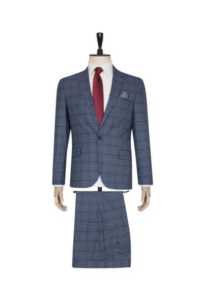 مدل کت شلوار مردانه برند SÜVARİ رنگ آبی کد ty71486985